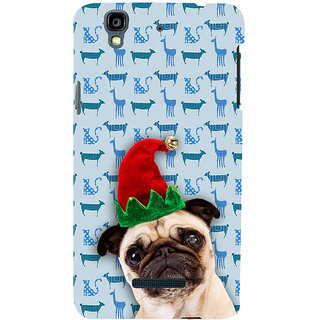 ifasho Dog with red hat Back Case Cover for YU Yurekha
