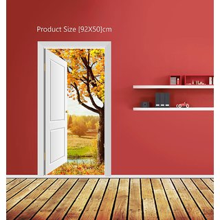 Creatick Studio Tree Door View Wall Poster