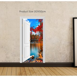 Creatick Studio River Door View Wall Poster