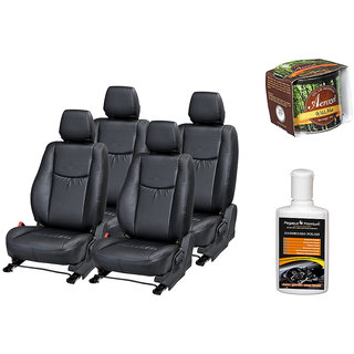 Pegasus Premium Seat Cover for  Skoda Laura With Aerozel Wild Mist Gel Perfume and Dashboard polish