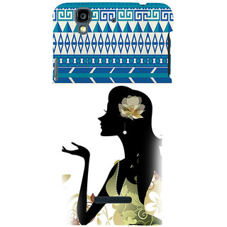 ifasho Girl  with Flower in Hair Back Case Cover for YU Yurekha