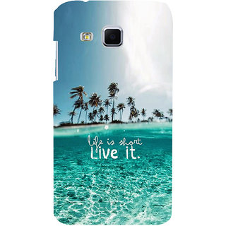 ifasho life is short live it Back Case Cover for Samsung Galaxy J3