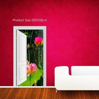 Creatick Studio Flowers Door View Wall Poster