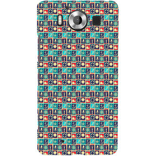 ifasho Modern Art Design Pattern with Lot Of small anchor and animal Back Case Cover for Nokia Lumia 950