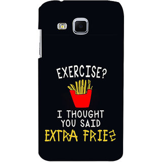 ifasho Quotes on exercise Back Case Cover for Samsung Galaxy J3