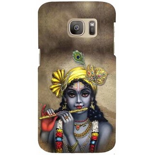 ifasho Lord Krishna with Flute Back Case Cover for Samsung Galaxy S7 Edge