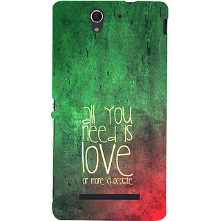 ifasho Love Quotes for love and chocolate Back Case Cover for Sony Xperia C3 Dual