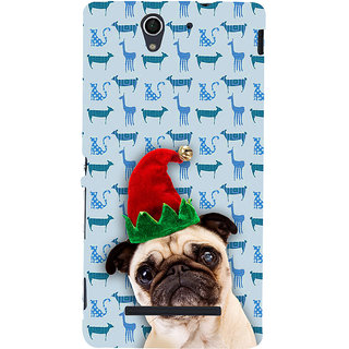 ifasho Dog with red hat Back Case Cover for Sony Xperia C3 Dual