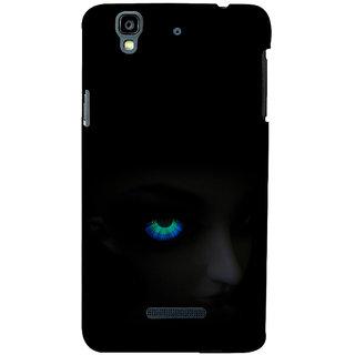 ifasho Girl with shining eyes Back Case Cover for YU Yurekha