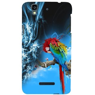 ifasho Parrot In Animation Back Case Cover for YU Yurekha