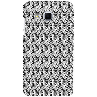ifasho Animated Pattern black and white jasmin flower Back Case Cover for Samsung Galaxy J3
