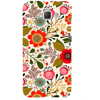 ifasho Animated Pattern colrful design flower with leaves Back Case Cover for Samsung Galaxy Grand3