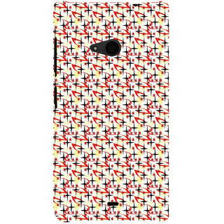 ifasho Animated Pattern colourful littel stars Back Case Cover for Nokia Lumia 535