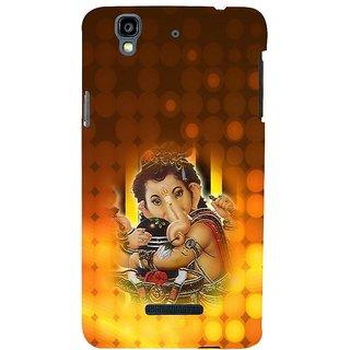 ifasho Lord Ganesha with linga Back Case Cover for YU Yurekha