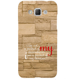 ifasho Kowledge quotes on stone pattern  Back Case Cover for Samsung Galaxy Grand3