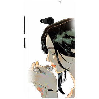 ifasho Girl kissing squirrel Back Case Cover for Nokia Lumia 535