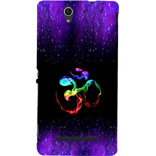 ifasho Om animated design Back Case Cover for Sony Xperia C3 Dual