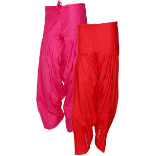 Indistar Women's Premium Cotton 1  Full Patiala Salwar  1  Dabang Jalidar Full Patiala Salwar (Pack of 2 Salwar)
