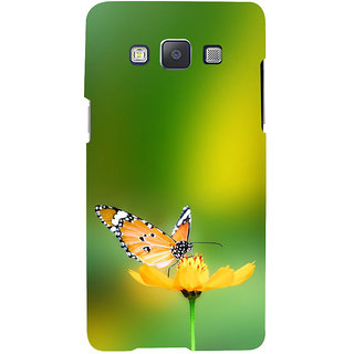 ifasho Butterfly sitting on flower Back Case Cover for Samsung Galaxy A7