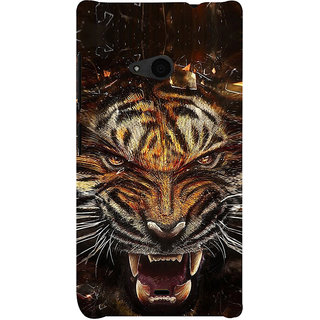 ifasho Roaring Tiger  Back Case Cover for Nokia Lumia 535