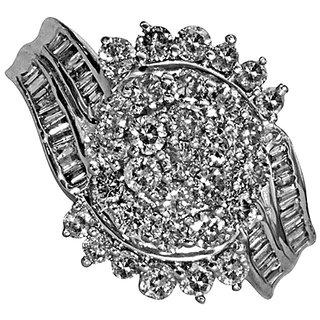 Spezia 92.5 Sterling Silver Ring Made With SWAROVSKI ZIRCONIA - SLRAA295