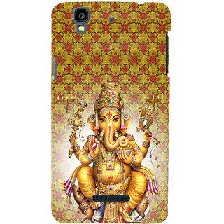 ifasho Lord Ganesha Back Case Cover for YU Yurekha
