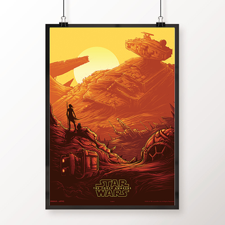 Desi Swag Multicolor Paper Posters Star Wars