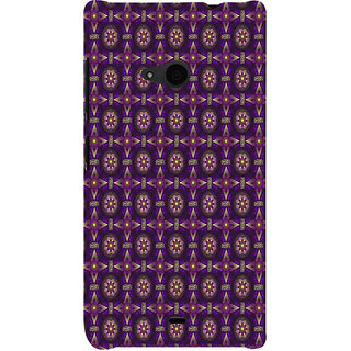 ifasho Animated Pattern design colorful flower in royal style Back Case Cover for Nokia Lumia 535