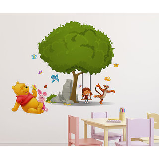 Wallstick ' Happy Joy animals' Wall Sticker (Vinyl, 85 cm x 65cm, Multicolor) 69-N-09