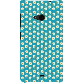 ifasho Pattern white flower design Back Case Cover for Nokia Lumia 535