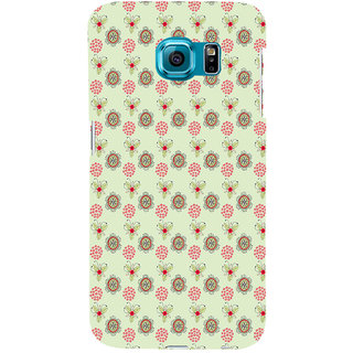 ifasho Animated Pattern design many small flowers  Back Case Cover for Samsung Galaxy S6 Edge Plus