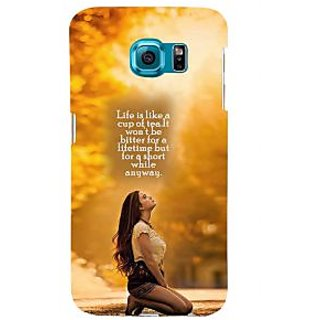 ifasho young Girl with quote Back Case Cover for Samsung Galaxy S6 Edge Plus