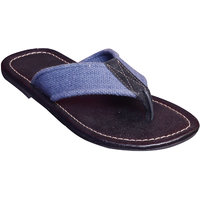 Suri Leather Stylish Cut-Out Slipper (13015-Bl)