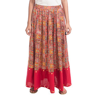 Navrachna Multicolor Printed Skirt