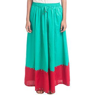 Navrachna Blue Plain Skirt