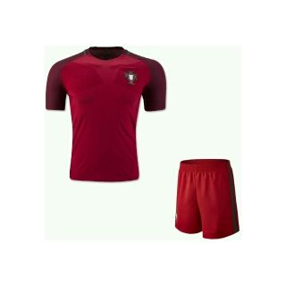 Red color Portugal football Jersey and game set for men