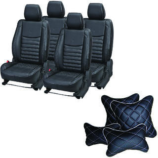 Pegasus Premium Seat Cover for Hyundai Santro  With Neck Rest And Pillow/Cushion