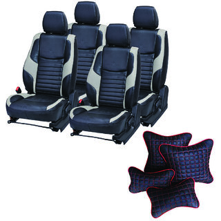 Pegasus Premium Seat Cover for Hyundai Santro Xing  With Neck Rest And Pillow/Cushion