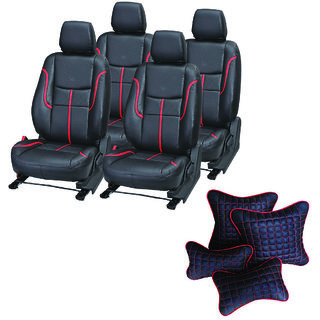 Pegasus Premium Seat Cover for Honda Jazz  With Neck Rest And Pillow/Cushion