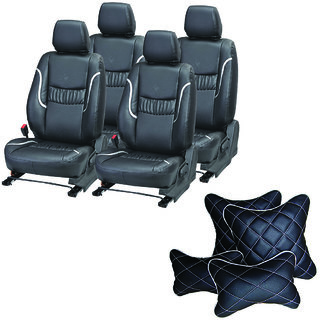 Pegasus Premium Seat Cover for Honda Amaze  With Neck Rest And Pillow/Cushion