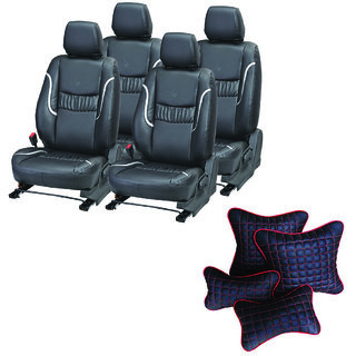 Pegasus Premium Seat Cover for Hyundai Xcent  With Neck Rest And Pillow/Cushion