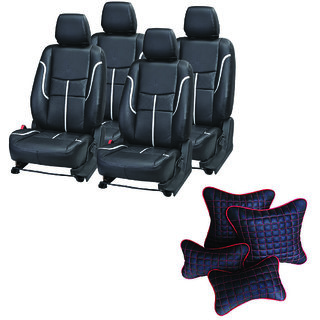 Pegasus Premium Seat Cover for Mahindra Scorpio  With Neck Rest And Pillow/Cushion