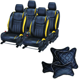 Pegasus Premium Seat Cover for Renault Logan  With Neck Rest And Pillow/Cushion