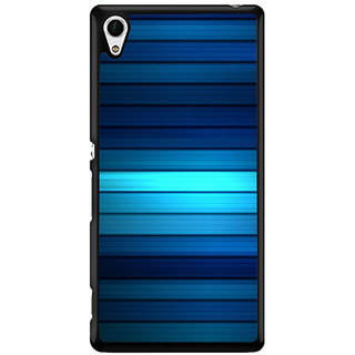 Ayaashii Blue Lines Pattern Back Case Cover for Sony Xperia Z4::Sony Xperia Z4 E6553
