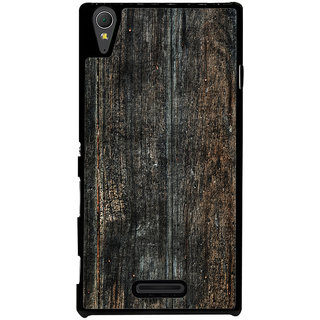 Ayaashii Old Wood Shaded Pattern Back Case Cover for Sony Xperia T3