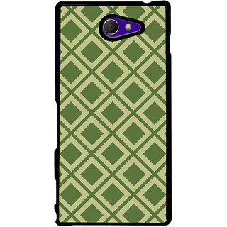 Ayaashii Diamond Pattern Back Case Cover for Sony Xperia M2 Dual D2302::Sony Xperia M2