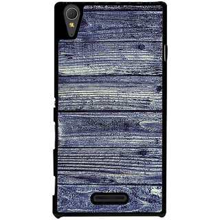 Ayaashii Wood Shaded Layer Back Case Cover for Sony Xperia T3