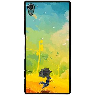Ayaashii A Man With Umbrella Painting Back Case Cover for Sony Xperia Z5::Sony Xperia Z5 Dual::Sony Xperia Z5 Premium