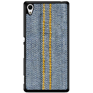 Ayaashii Jeans Cloth With Stich Back Case Cover for Sony Xperia Z4 Mini::Sony Xperia Z4 Compact