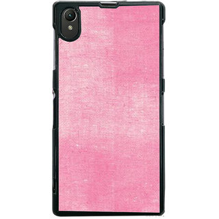 Ayaashii Pink Cloth Back Case Cover for Sony Xperia Z1::Sony Xperia Z1 L39h
